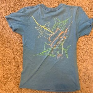 Boys blue Guy Harvey Neon Size Large